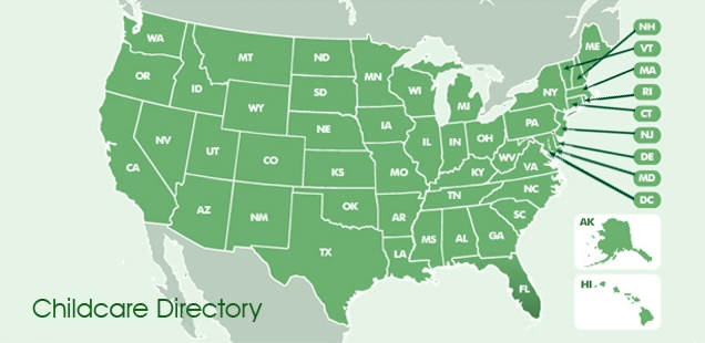 Map of Childcare Centers in the United States
