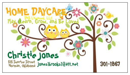 Christie Jones Home Daycare