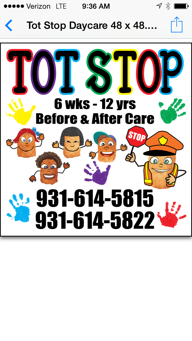 TOT STOP DAYCARE