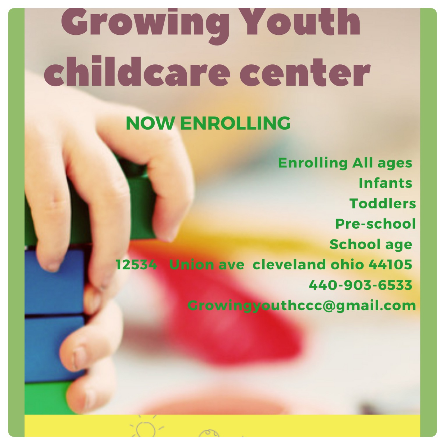 GROWING YOUTH CHILDCARE