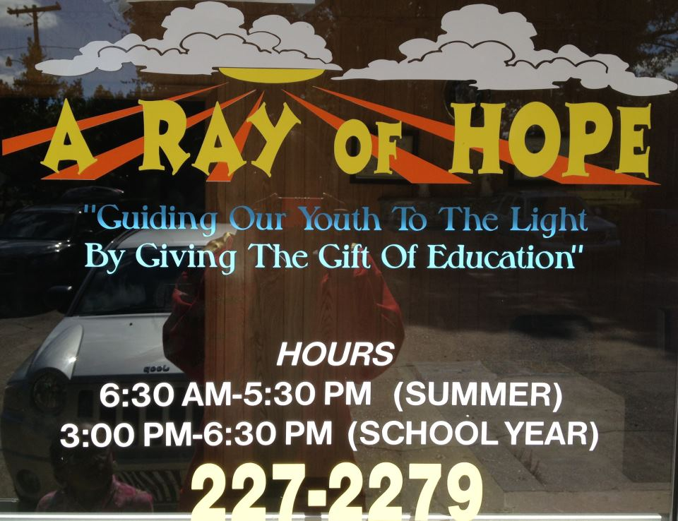 A RAY OF HOPE SCHOOL-AGE