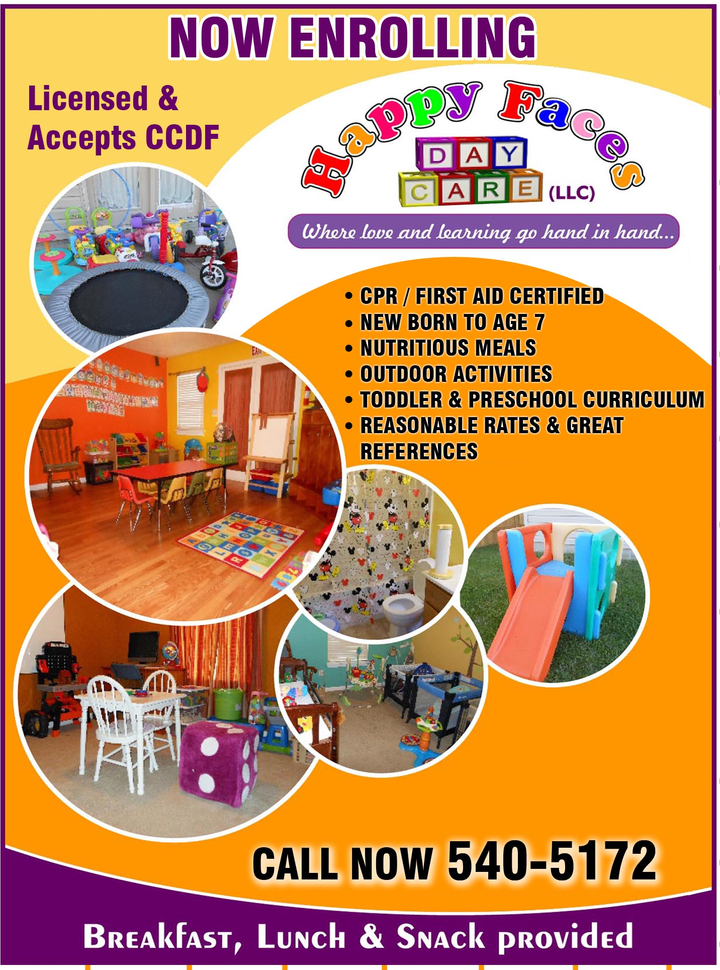 home daycare flyers template home daycare flyers