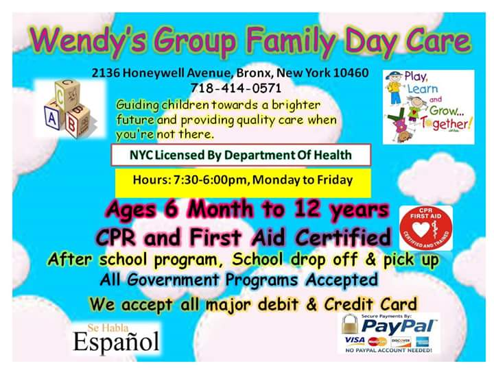 Wendy Group Family Day care