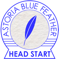 ASTORIA BLUE FEATHER HEAD START