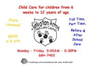 SALVATION ARMY DAY CARE CENTER, THE