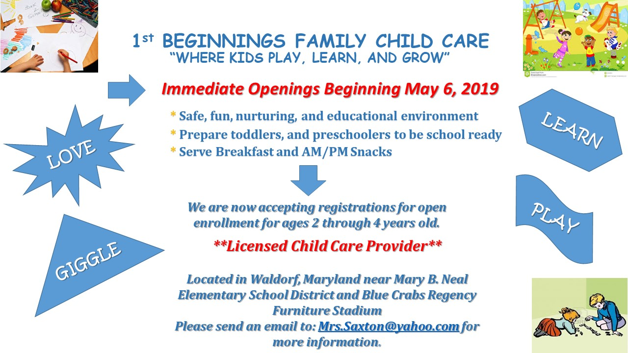 1st Beginnings Family Child Care