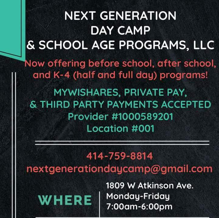 Next Generation Day Camp And School Age Prog